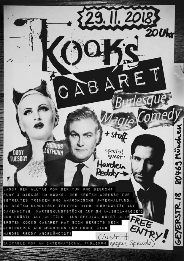 Kooks Cabaret, Burlesque, Magie & Comedy Show in München